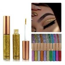 Makeup Shiny Smoky Eyes Eyeshadow Waterproof Glitter Liquid Eyeliner AM best selling 2019 products