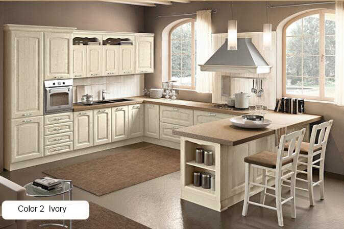 Quando lo stile vintage entra in cucina! Kitchen Cabinets Shaker Solid Wood American Kitchen Cabinet Designs For Small Kitchens Countertops Kitchen Cabinets Aliexpress