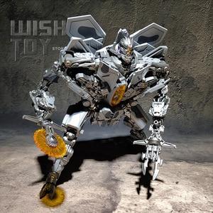 Image 1 - BMB Robot transformacyjny LS04 LS 04 czerwony pająk gwiazda Adjutant dowódca Film LS04S SS Oversize samolot aluminiowe zabawki figurki akcji