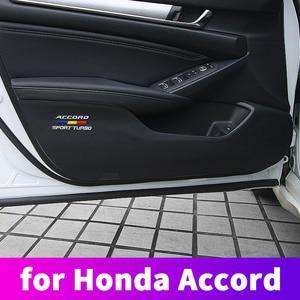 Image 1 - Anti dirty anti kicking the door mat mat For 10th Honda Accord 2018 2019 interior conversion decorative accessories Leather door