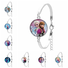 2020 Hot Sale Snow Princess Snow Queen Bracelet Series Glass Convex Cute Lady Bracelet Gift for The Most Beautiful Girlfriend the snow queen