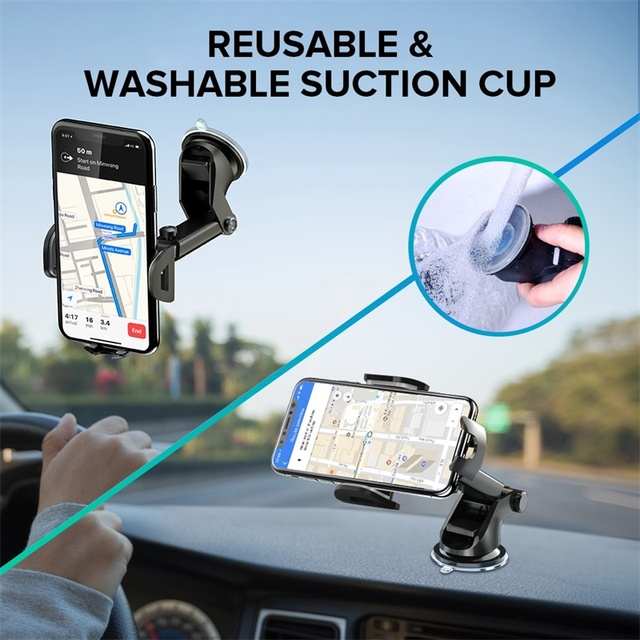 INIU Sucker Car Phone Holder Mobile Phone Holder Stand in Car No Magnetic GPS Mount Support For iPhone 11 Pro Xiaomi Samsung 6