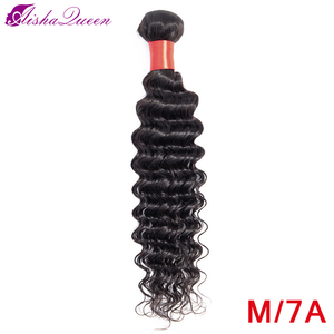 Aisha Queen Hair Brazilian Deep Wave 8-30 inch Natural Color Medium Ratio 100% Non Remy Human Deep Weave Hair Bundles
