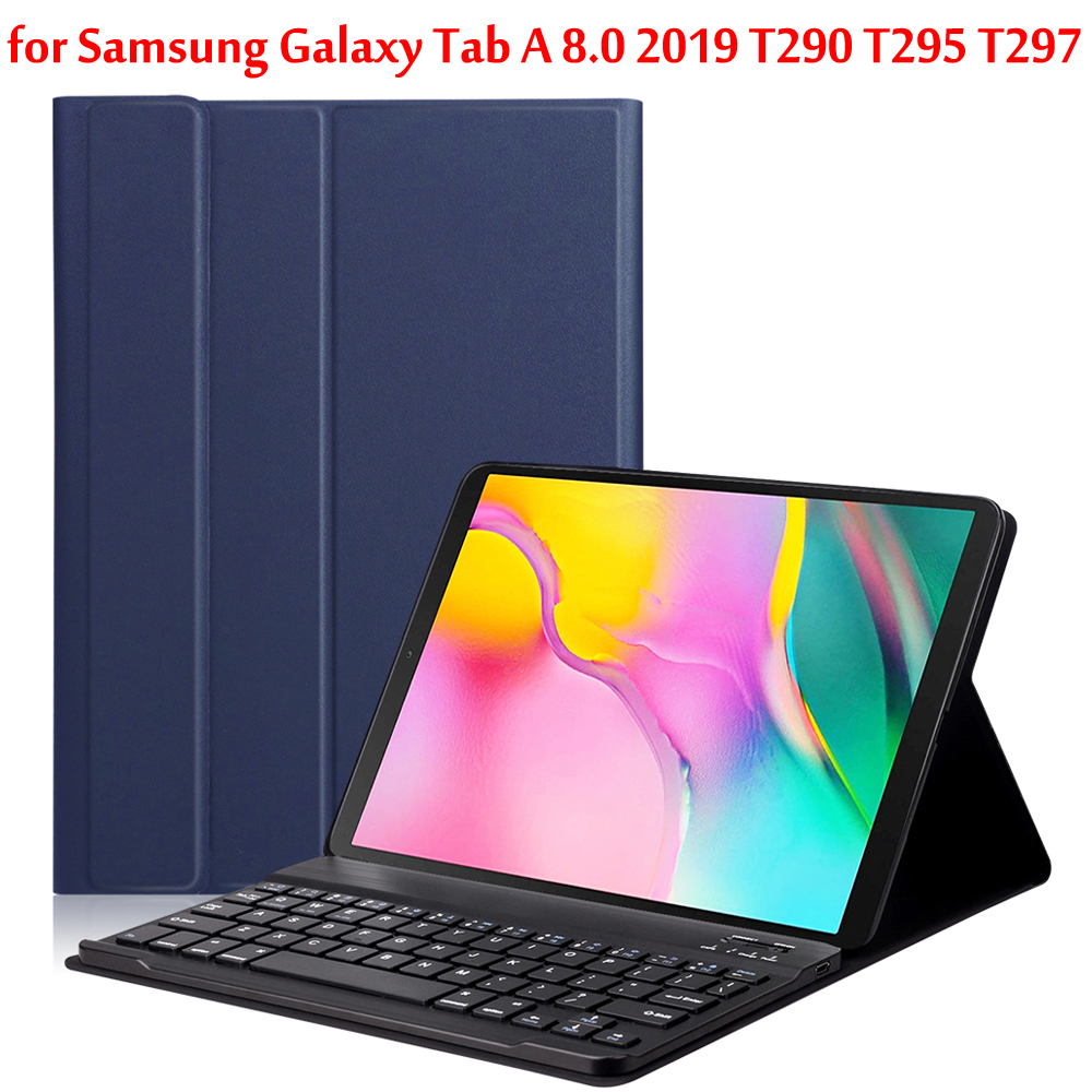 Bluetooth Keyboard Tablet Case For Samsung Galaxy Tab A 8.0 2019 T290 T295 T297 SM-T290 SM-T295 Wireless Keyboard Tablet Cover