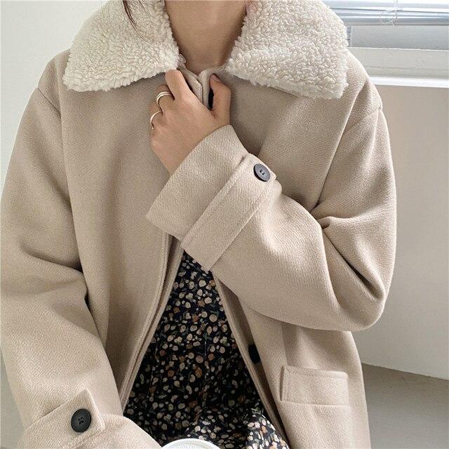 Купить зимние женские свободные chic верхняя одежда повседневный кардиган картинки цена