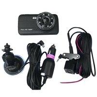 Black 4 Inch Lcd Dash Cam Driving Recorder Dvr Dual Camera