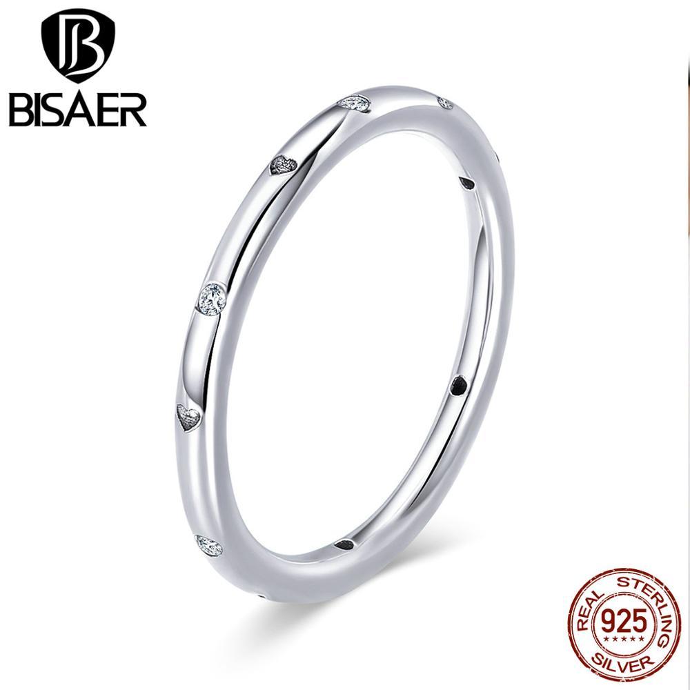 Verodostojen 925 kapljic sterling srebra, zložljiv prstan, polirano zlato in jasno CZ Anel poročni zaročni prstan nakit WEU7141