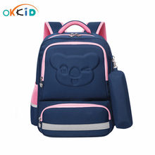 OKKID student orthopedic backpack cute school backpack for girls reflective strip bookbag school bags for boys kids pencil bag(China)