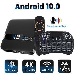 Image 1 - 안드로이드 10.0 TV 박스 RK3229 4K 유튜브 구글 어시스턴트 2G 16G 셋톱 박스 3D H.265 2.4G 와이파이 미디어 플레이어 TV 수신기 플레이 스토어
