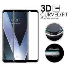 3D изогнутое закаленное стекло с полным покрытием для LG V30, V30S, V35, V40, V50, V50S, G8X, G8, G7 Plus, Тонкая Стеклянная Защитная пленка для экрана