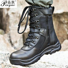 Tactical men's boots special forces military boots leather w