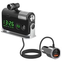 Trasmettitore FM Bluetooth 5.0 per Auto USB C PD caricatore 18W adattatore Radio FM BT chiamata in vivavoce suono basso accessori Auto
