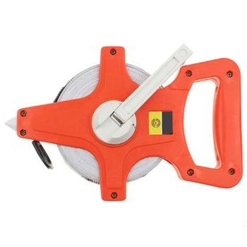 1Pc 50M/165Ft Meter Open Reel Fiberglass Tape Measure Inch Metric Scale Impact Resistant Plastic Measure Tools|Tape Measures| |  -