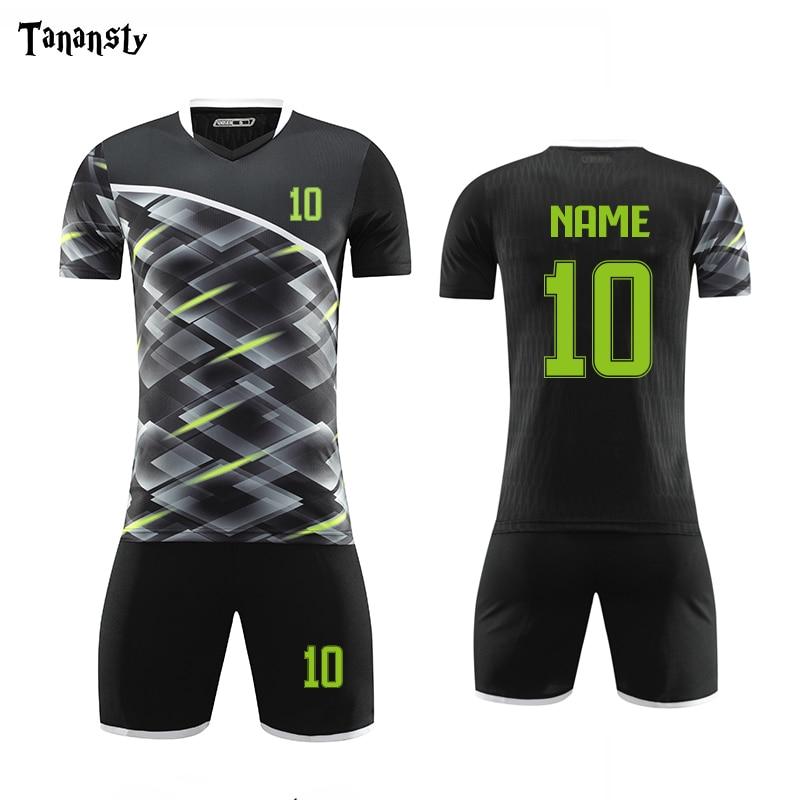 Набор мужской футбольной формы «сделай сам», футболка и шорты, спортивные комплекты для взрослых, 2019, 2020 Наборы для футбола      АлиЭкспресс