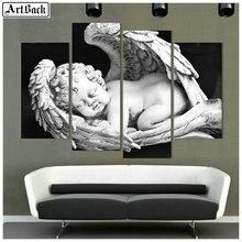 Full square diy diamond painting angel baby sleeping decorative 5d child wings mosaic sticker crafts