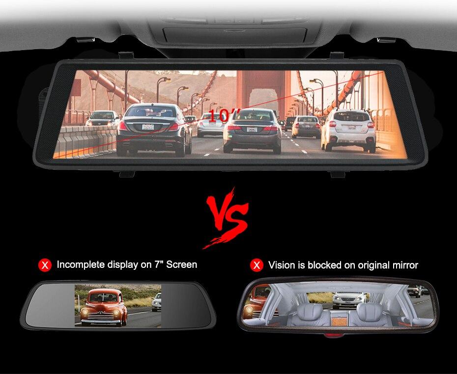 Anstar 10 4G Auto DVR HD 1080P WiFi Android Video Recorder GPS Navigation ADAS Dual Objektiv Dash cam Auto Rückspiegel Kamera - 2