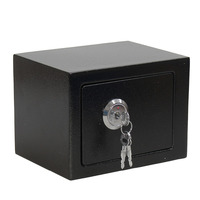 Home office jewelry cash safe box black new arrival professional durable strong steel steel key operation safe money