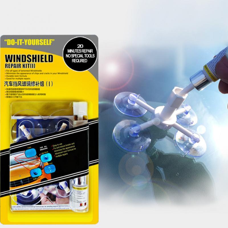 Car Windshield Repair Kit Quick Fix Car Cracked Glass Windscreen Repair Tool Kit Resin Sealer DIY Car Windshield Repair Kit Tool