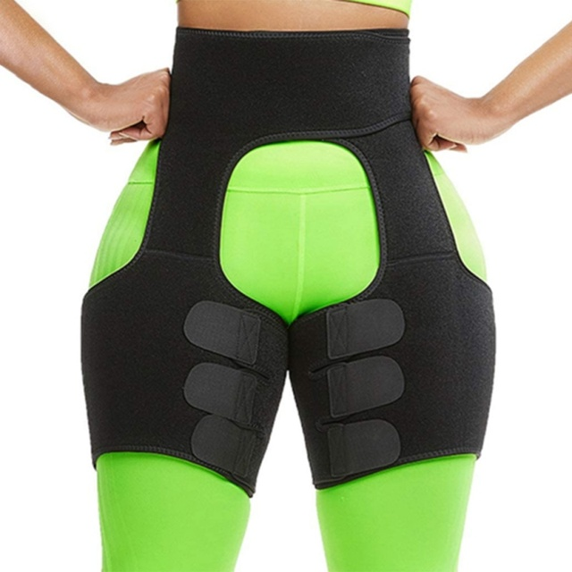 Slim Sweat Thigh Trimmer Leg Shapers Slender Slimming Belt Sweatband Shapewear Toned Muscles Band Thigh Slimmer Wrap 3