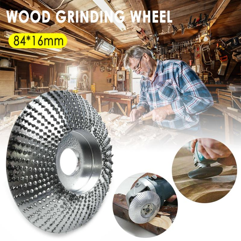 Carbide Wood Sanding Carving Shaping Disc For Angle Grinder Grinding Wheel Abrasive Tools 84mmx16mm