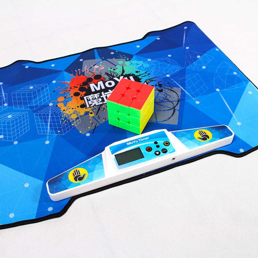 Moyu مسابقة حصيرة مكعب الموقت ل 2x2x2 3x3x3 4x4 ماجيك سرعة الكؤوس WCA منافس التعليمية لعبة طفل