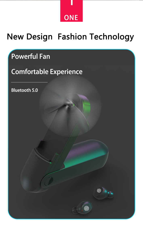 Novo tws tipo ventilador de fones de
