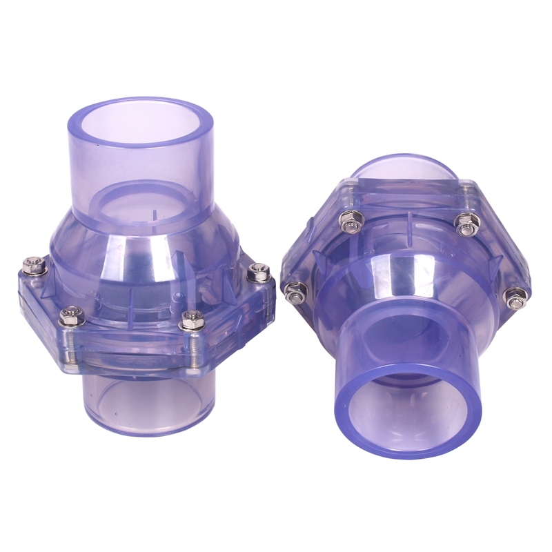 ID 40 50 63mm Hi-Quality Transparent UPVC Flap Check Valve Sewer Deodorization Non-Return Valve Industrial Water Pipe Connectors image