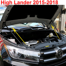 Car ACCESSORIES FOR Toyota Highlander 2015-2018 CAR BONNET HOOD GAS SHOCK STRUT LIFT SUPPORT Car Support rod цена 2017