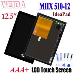 WEIDA LCD Replacement Parts 12.5 For Lenovo ideaPad MIIX 510-12 LCD Display Touch Screen Digitizer Assembly miix 510-12isk