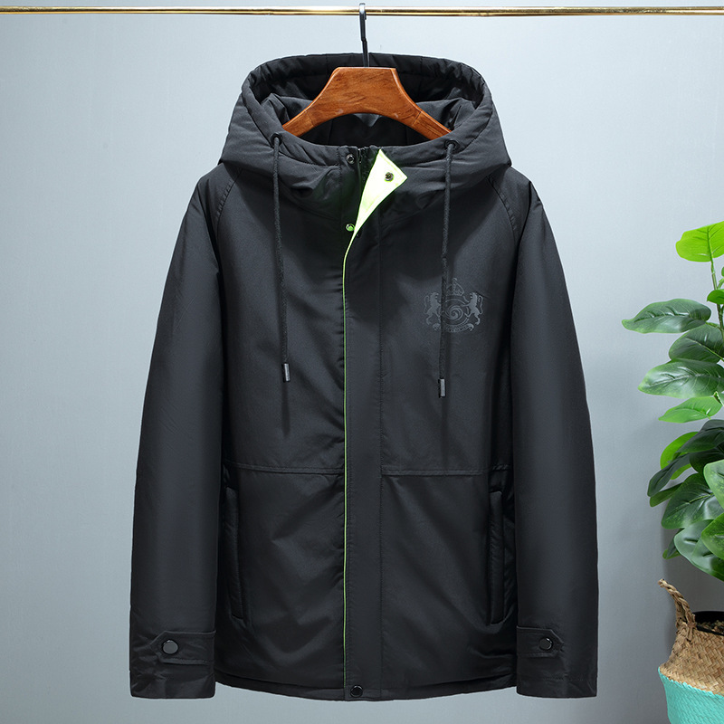 Down Jacket Men Korean Hooded Winter Coat Men White Goose Down Puffer Jacket Men Warm Doudoune Homme 2161 YY1300