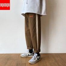 Joggers Casual Straight Pants Men Fashion Baggy Autumn Hip Hop Sweatpants Male Black Japanese