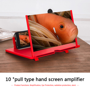 10inch Mobile Phone Screen Amplifier Projector Portable Camping Travel Desktop 3D Video Movie Magnifying Glass Phone Support
