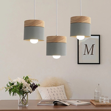 Designer Nordic Creative Wood Pendant Lights Colorful hang lamp Simple Living Room hotel home decor Kitchen Island bar light