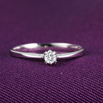 1 Carat Diamond Ring Genuine 18k White Gold Platinum Rose Gold Couple Married To Marry Diamond Ring 2