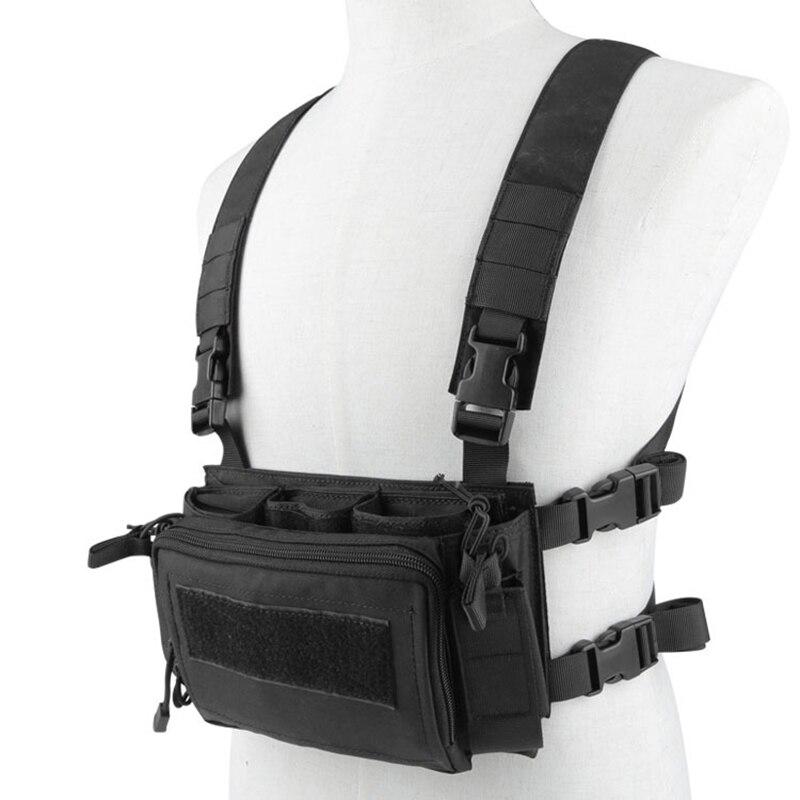Tactique transporteur armure poitrine plate-forme gilet harnais chasse accessoires avec fusil pistolet Magazine 5.56 utilitaire Pack