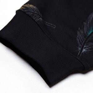 Image 5 - Jersey de diseñador con plumas para hombre, Jersey delgado de punto, ropa de punto ajustada, ropa de punto 2020