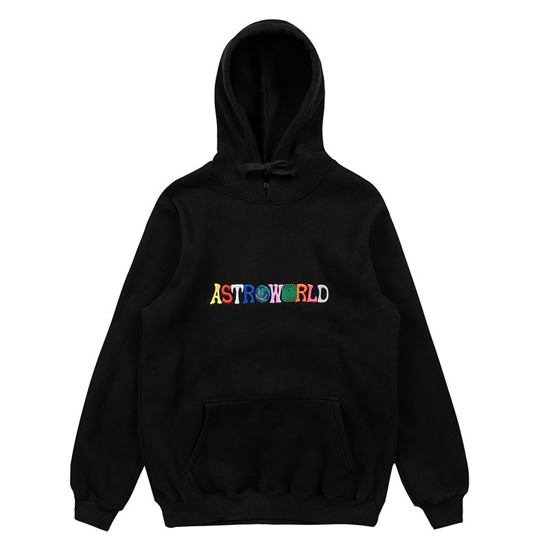 Men's Hoodies Travis Scotts ASTROWORLD The Embroidery Letter Print WISH YOU WERE HERE Hoody High Quality Male Hoodie Sweatshirts