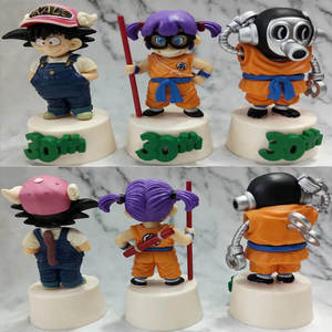 3pcsset Dragon Ball Son Goku Mini 110 scale painted Arale Action Figure Collectible Model Toy Gift