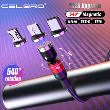 LED 3A Magnetic Cable Usb Magnet Micro USB Type C Cable Magnet Charger Type-C Cable Cord for Xiaomi Samsung Huawei Gaming Cable cheap CELBRO NYLON USB A With LED Indicator Alloy Connector 360 Degree Rotation Magnetic Type-C Cable Straight 90 Degree LED light