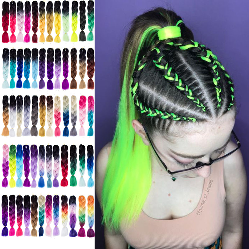 Hair Ribbons Fake Dirty Braided African Small Dreadlocks Color Rope Connected With Gradient Headwear Synthetic Braiding Hair