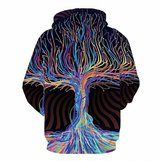 Abstract Anime Galaxy 3D Printed Colorful Hoodie  1