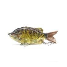 15cm 58g isca de pesca articulada iscas duras isca afundando swimbait escova cauda baixo isca bluegill flutuante swimbait