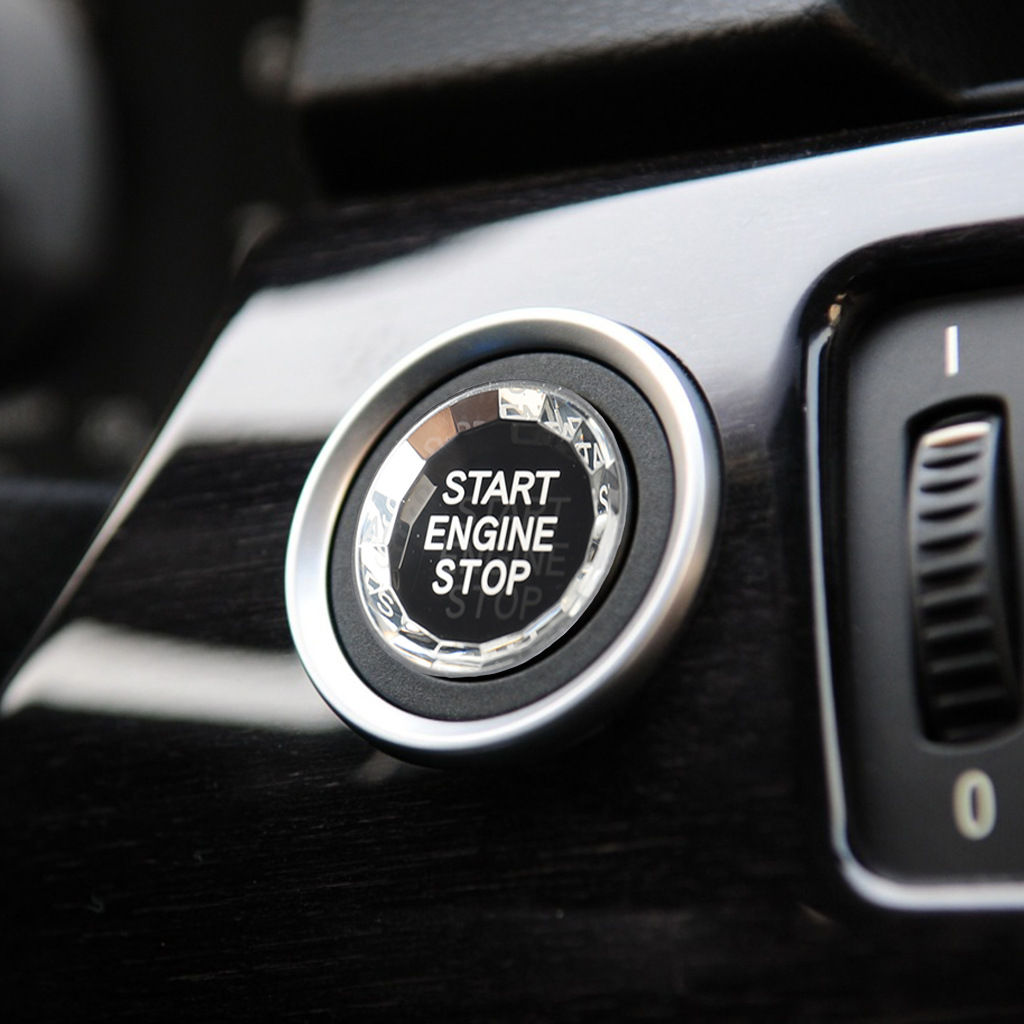 car <font><b>engine</b></font> Start Stop Switch Button <font><b>cover</b></font> Diamond Crystal style For <font><b>BMW</b></font> <font><b>E90</b></font> E84 E83 E70 E71 E72 Series Start Button trims image