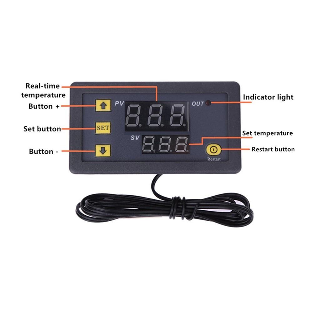 Цифровой регулятор температуры W3230, релейный выход ler -55 ~ 120C, регулятор термостата, переключатель контроля нагрева и охлаждения, 10 А, 220 В/20 А, ...