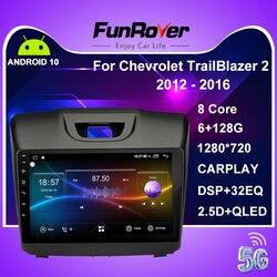 Funrover 8 core 2 din Car Radio Multimedia android10 for Chevrolet Trailblazer Colorado S10 Isuzu D-max MU-X car dvd gps palyer