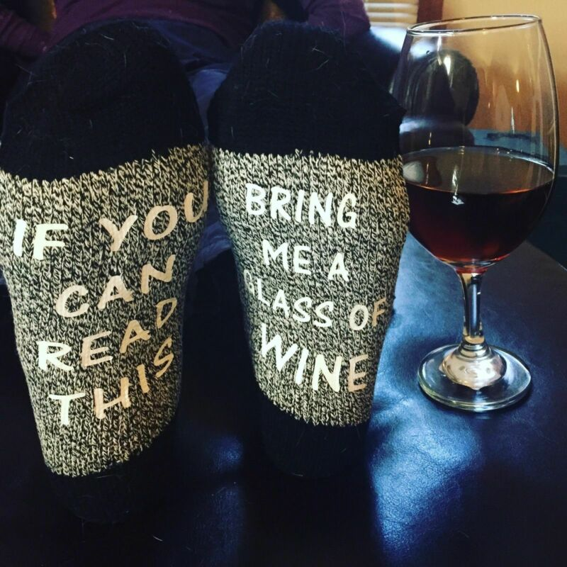 New Fashion If You Can Read This Bring Me A Gin Novelty Socks Birthday Mothers Day Gift