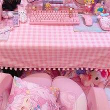 Adorável rosa toalha de mesa de jantar da cozinha decorações retangulares capas de mesa decorações de natal para casa