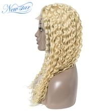 150% плотность парик шнурка бразильский 613 глубокая волна закрытие парик Новая звезда девственные человеческие волосы парики индивидуальные медовый блонд 613 тканые парики