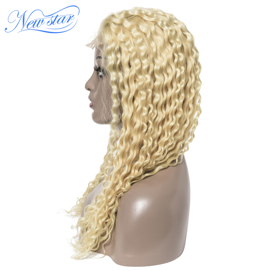 150%Density Lace Wig Brazilian 613 Deep Wave Closure Wig New Star Virgin Human Hair Wigs Customized Honey Blonde 613 Weave Wigs