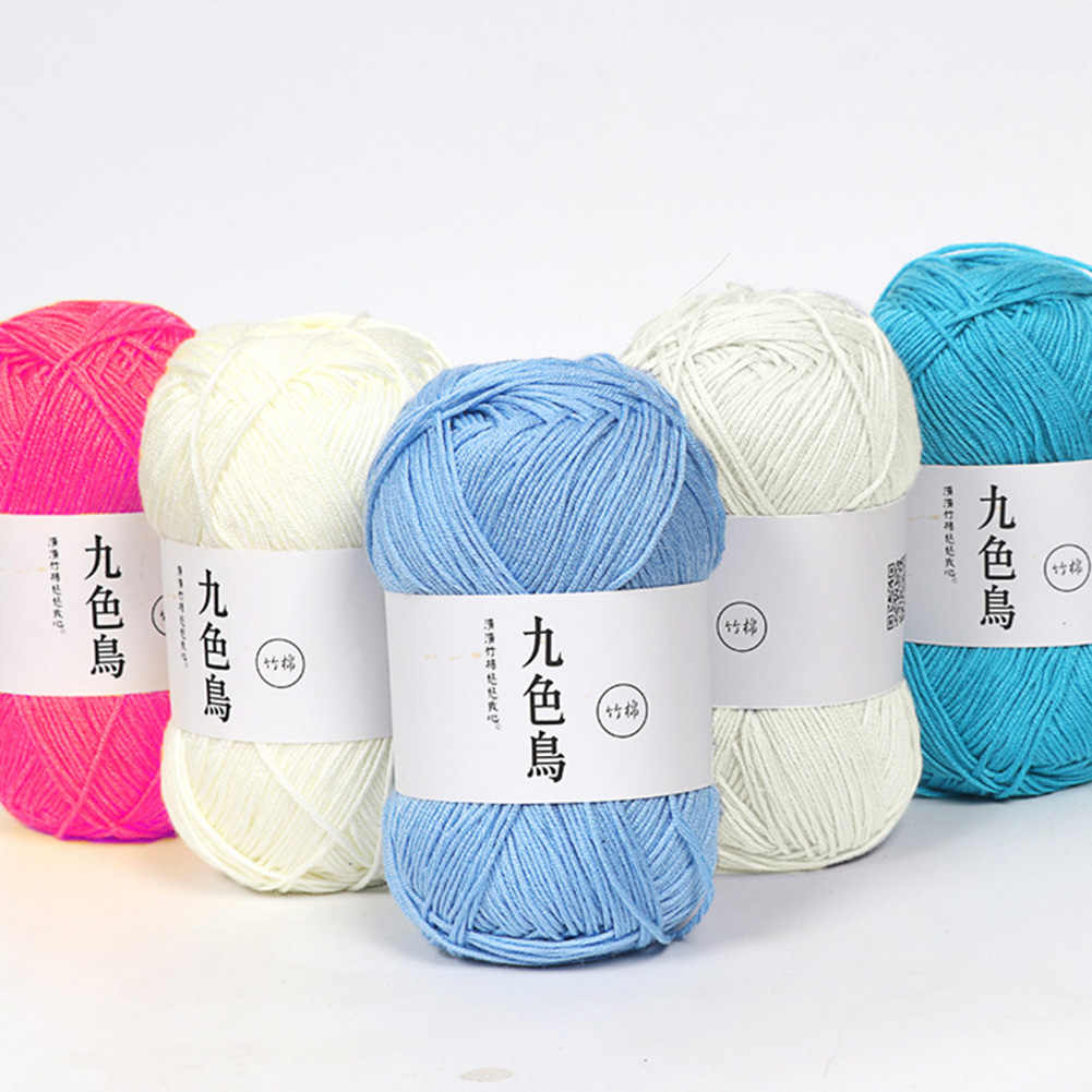 50g/rolo fino fio de crochê fio de lã macia para tricô ganchos de crochê para a mão tricô agulhas de lã mão fio acrílico diy costura